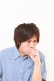 Coughing man Royalty Free Stock Images
