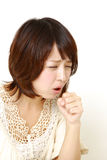 Coughing woman Royalty Free Stock Photography