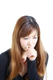 Coughing woman Royalty Free Stock Photos
