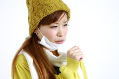Coughing woman Royalty Free Stock Photo
