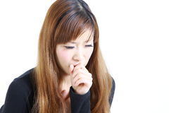 Coughing woman Royalty Free Stock Image