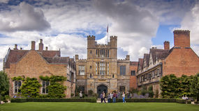 Coughton Court. The back of Coughton Court in England seen from the gardens. Ancestral home of the Throckmorton family who were and are related to several of the Royalty Free Stock Photography