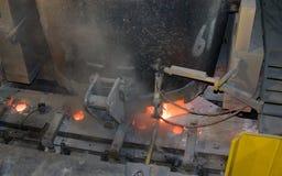 Coulée continue pour l'acier Photo libre de droits