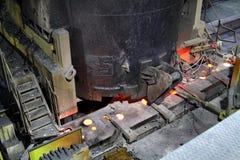 Coulée continue pour l'acier Photo stock