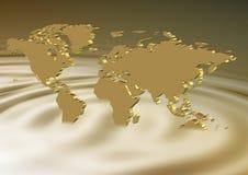 Coulage d'or de la terre Photographie stock