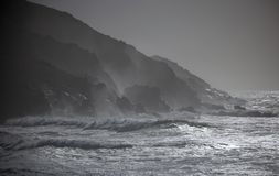 Could. Strong storm on the coast of galicia Royalty Free Stock Images