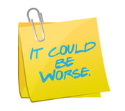 It could be worse post it illustration design Stock Image