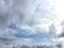 Could and blue sky in rainy season. Royalty Free Stock Images