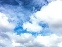 Could and blue sky in rainy season. Royalty Free Stock Photography