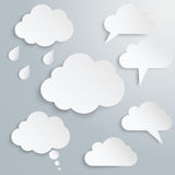 Could. White clouds in the amount of seven pieces Royalty Free Stock Image