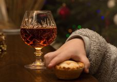 Couldn't wait. Tut tut wait for Santa to arrive Royalty Free Stock Photography