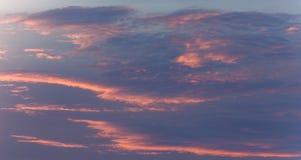 Coulds do nascer do sol Céu bonito do nascer do sol Imagens de Stock Royalty Free