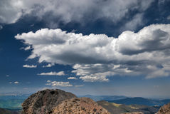 Coulds over mt. Evens in Colorado Stock Photography