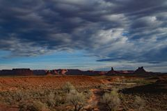 Coulds Over the Valley of the Gods royalty free stock photography