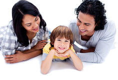 A coule wth a child Royalty Free Stock Photography