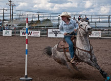 COULEE STADT, WA - 16. April - jugendlich Rodeo Stockfotos