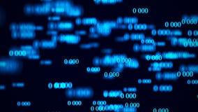 ?coulement des z?ros Matrice de fond de Digital rendu 3d Fond de code binaire programmation D?veloppeur web illustration stock