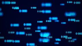 ?coulement des z?ros Matrice de fond de Digital rendu 3d Fond de code binaire programmation D?veloppeur web illustration de vecteur