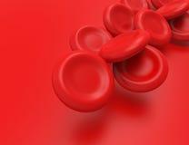 Couler des globules sanguins Photos stock