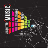Couler illimité de musique Image libre de droits