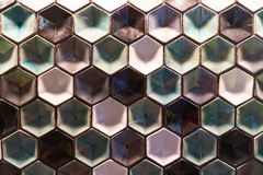 Coulered Hexagons Pattern stock photography