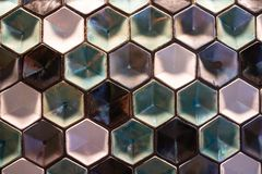 Coulered Hexagons Pattern stock photos