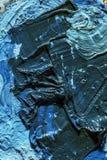Couleur à l'huile sèche bleue Images libres de droits