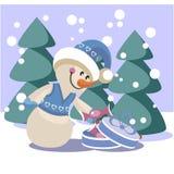 Couleur 19 de bonhomme de neige Photo libre de droits