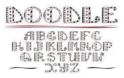 Couleur ABC Alphabet tiré par la main de vecteur Griffonnage marquant avec des lettres le collecti illustration de vecteur
