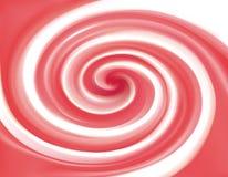 Couleur abstraite de cramoisi de fond de spirale de vecteur Photographie stock