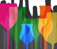 Couleur alcoolique de menu de barre Photo stock
