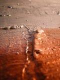 Couleur argentée et de cuivre sur la toile Images stock