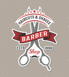 Couleur Barber Scissors Poster Images stock