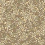 Couleur baroque de brun de style de fond sans couture Modèle de luxe de vintage Rétro victorien Style de Damas d'ornement Élément Photo stock