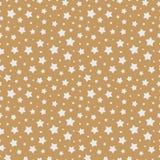 Couleur blanche de modèle sans couture d'étoile de Noël sur le fond d'or en vente de Noël illustration de vecteur