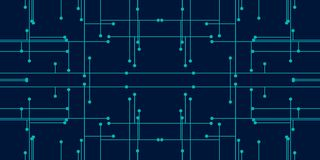 Couleur bleue de fond de résumé pour la technologie se composant des points et des lignes illustration libre de droits