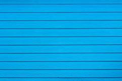 Couleur bleue du mur en bois Photographie stock libre de droits