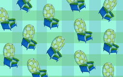 Couleur bleue et verte de menthe de modèle de fauteuil Photos stock