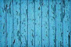 Couleur bleue sarcelle en bois de type de cru Photos stock