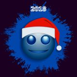 Couleur bleue souriante de Noël Photographie stock