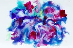 Couleur colorée de bleu d'aquarelle, rose et blanche abstraite Image libre de droits