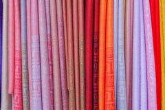 Couleur d'écharpes Images stock