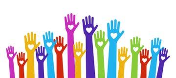 Couleur d'amour de mains illustration libre de droits
