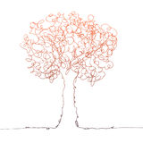 Couleur d'arbre sur le blanc Photos stock