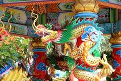 Couleur d'art de dragon de la Chine Images libres de droits