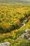 Couleur d'automne en péninsule de haut du Michigan Photo libre de droits