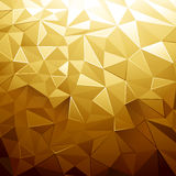 Couleur d'or bas poly Photo stock