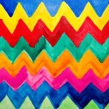Couleur d'eau colorée de bandes Photographie stock