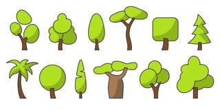 Couleur d'ensemble d'arbre un a un a images stock