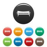 Couleur d'ensemble d'icônes de sofa de pièce illustration stock